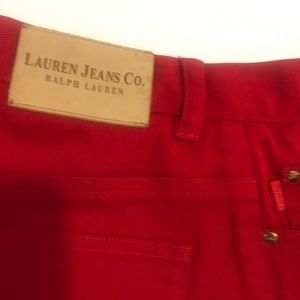 Red Ralph Lauren high Waisted jeans